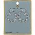 Cubic Zirconia Stone Hoop Earrings
