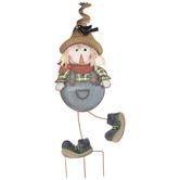 Boy Scarecrow Metal Garden Stake