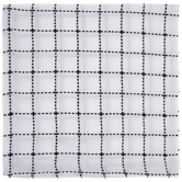 White & Black Grid Cloth Napkin