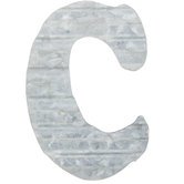 Corrugated Metal Letter Wall Decor - C