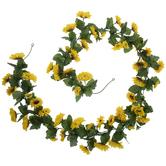 Yellow Mini Sunflower Garland