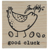 Good Cluck Rubber Stamp