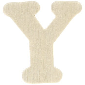 """Wood Letters Y - 1 3/4"""""""