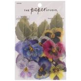 Pansy Paradise Flower Embellishments