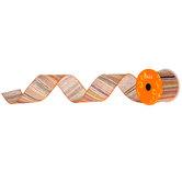 """Striped Burlap Ribbon - 2 1/2"""""""