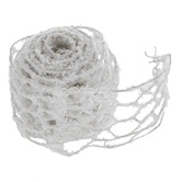 White Glitzy Snow Wired Netting Ribbon - 2 1/2""