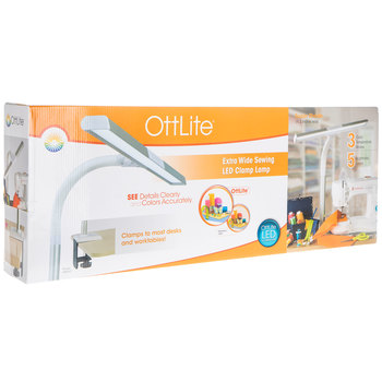 OttLite Extra Wide Sewing LED Clamp Lamp