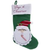 Santa Days 'Til Christmas Stocking