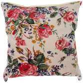 Pink Floral Velvet Pillow Cover