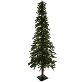 Green Alpine Pre-Lit Christmas Tree - 6'