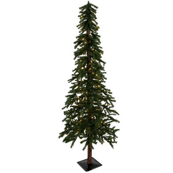 Green Alpine Pre-Lit Christmas Tree - 6'