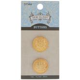 Gold Crest Metal Shank Buttons - 20mm