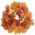 Orange & Red Oak Leaf Candle Ring - Large