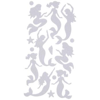 Iridescent White Mermaid Glitter Stickers