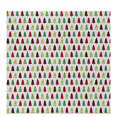Green & Red Patterned Christmas Tree Gift Wrap