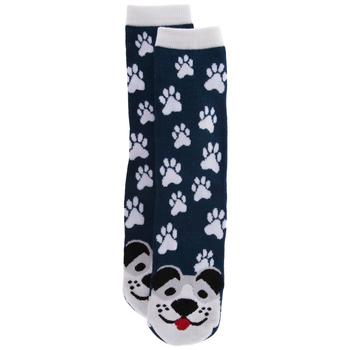 Blue Dog & Paw Print Socks