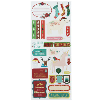 Merry Christmas Foil Stickers