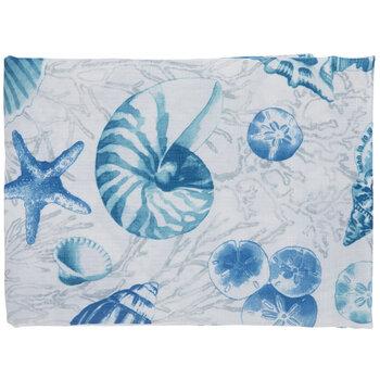 Mermaid Seashells by mintedtulip Ocean Nautical Fish Coral Seashells Peach Cotton Sateen Tablecloth by Spoonflower Beach Tablecloth
