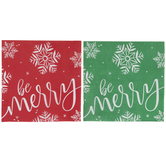 Be Merry Snowflake Napkins