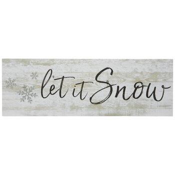 Let It Snow Wood Decor