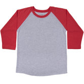 Heather Gray & Red Youth Baseball Shirt - XL