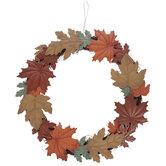 Leaves Wreath Metal Wall Decor
