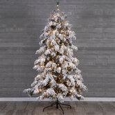 Berkshire Snowy Spruce Pre-Lit Christmas Tree - 7 1/2'