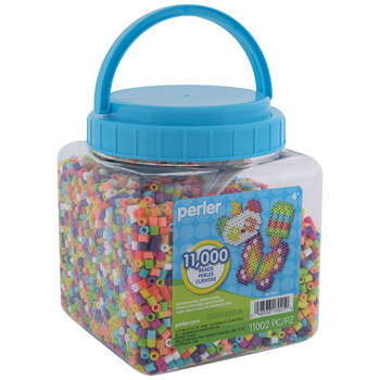 Neon Perler Bead Activity Bucket