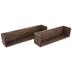 Brown Rectangle Wood Wall Shelf Set