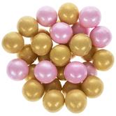 Light Pink & Gold Shimmer Gumballs