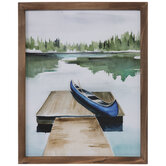 Watercolor Canoe Wood Wall Decor