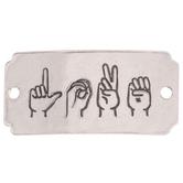 Sign Language Love Focal Pendant