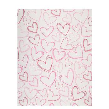 "Doodle Hearts Vellum Paper - 8 1/2"" x 11"""