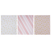 Pink, White & Gold Pocket Folders