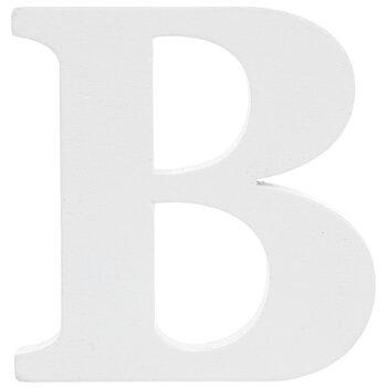 """White Wood Letter B - 3"""""""