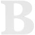 White Wood Letter B - 3