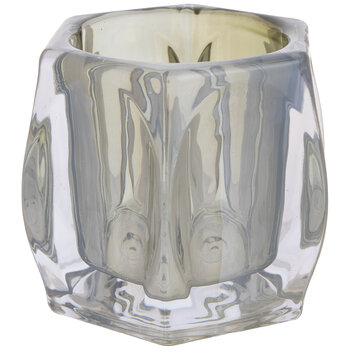 Gunmetal Glass Candle Holder