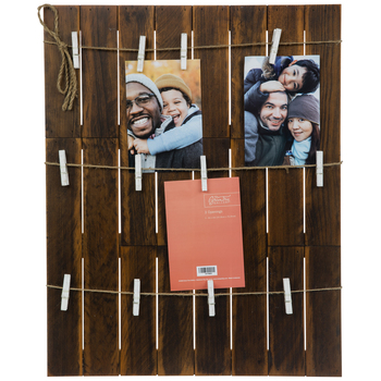 Wood Plank Collage Clip Wall Frame
