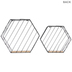 Hexagon Metal Wall Shelf Set
