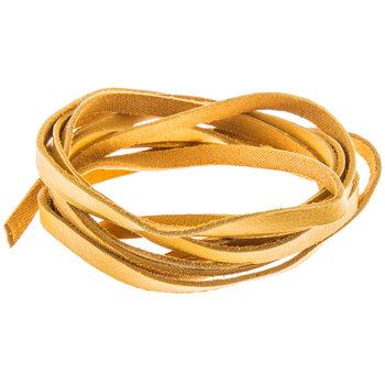 """Gold Deerskin Lace - 3/16"""""""