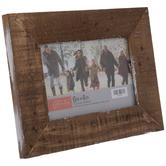 Rustic Paint Stroke Wood Frame