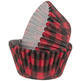 Red & Black Buffalo Check Baking Cups