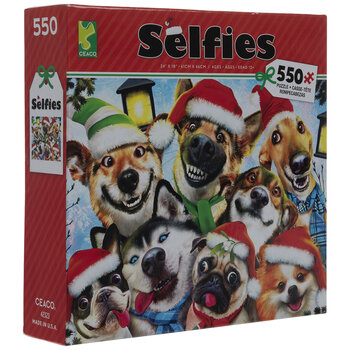 Dog Christmas Party Selfies Puzzle