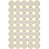 Merry Christmas Gold Foil Stickers