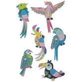 Bird Glitter 3D Stickers