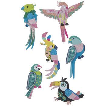 Bird Glitter 3D Stickers