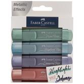 Bright Metallic Faber-Castel Textliner Highlighters - 4 Piece Set