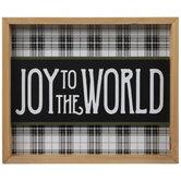 Joy To The World Wood Wall Decor