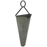 Galvanized Metal Cone Wall Planter