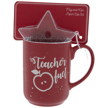 Teacher Fuel Mug & Paper Clips